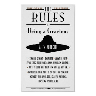 Rules for Being a Gracious Abductee Poster