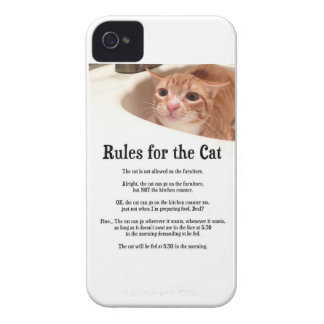 Rules for Cat iPhone 4 Cover