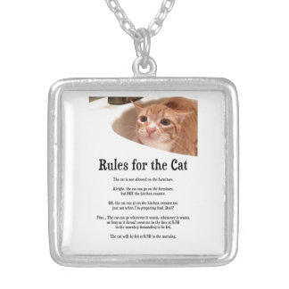 Rules for Cat Silver Plated Necklace