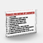 Rules For Dating My Daughter Acrylic Block Awards