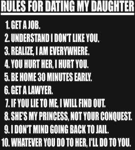 five rules for dating my daughter
