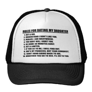 Rules For Dating My Daughter Black Trucker Hat
