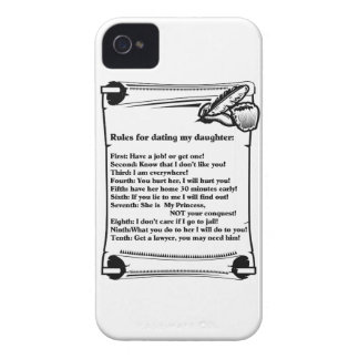 Rules for Dating My Daughter iPhone 4 Cover