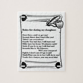 Rules for Dating My Daughter Jigsaw Puzzle