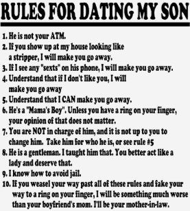 rules on dating my son