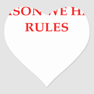 RULES HEART STICKER
