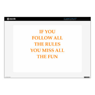 rules laptop decal