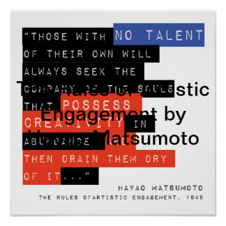 Rules of Artistic Engagement by Hayao Matsumoto Poster