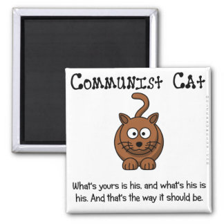 Rules of communism 2 inch square magnet
