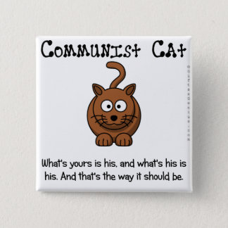 Rules of communism pinback button