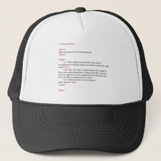 rules of html trucker hat
