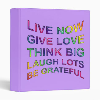 Rules Of Life 3 Ring Binder