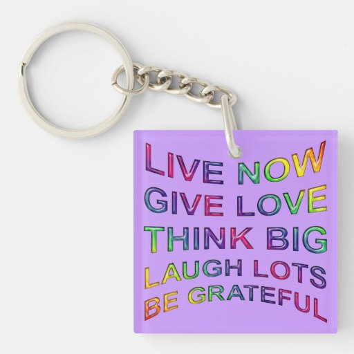 Rules Of Life Double-Sided Square Acrylic Keychain