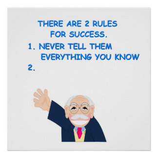 rules of success poster