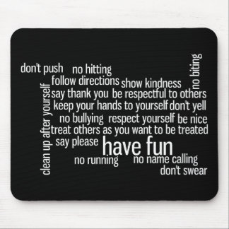 Rules of the House Mouse Pad