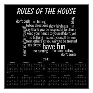 Rules of the House Poster