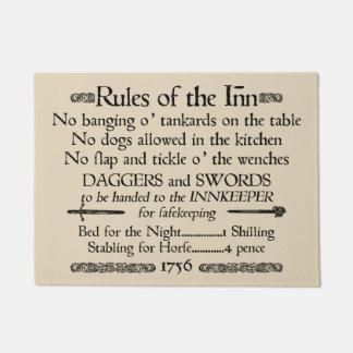 Rules of the Inn, 18th Century Innkeeper Sign Doormat