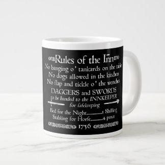 Rules of the Inn, 18th Century Innkeeper Sign Large Coffee Mug