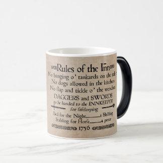 Rules of the Inn, 18th Century Innkeeper Sign Magic Mug