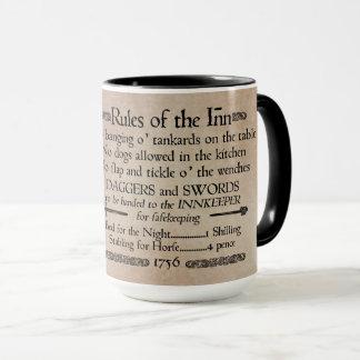Rules of the Inn, 18th Century Innkeeper Sign Mug