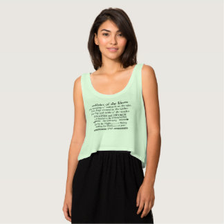 Rules of the Inn, 18th Century Innkeeper Sign Tank Top