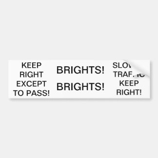 Rules of the Road Reminders Bumper Stickers