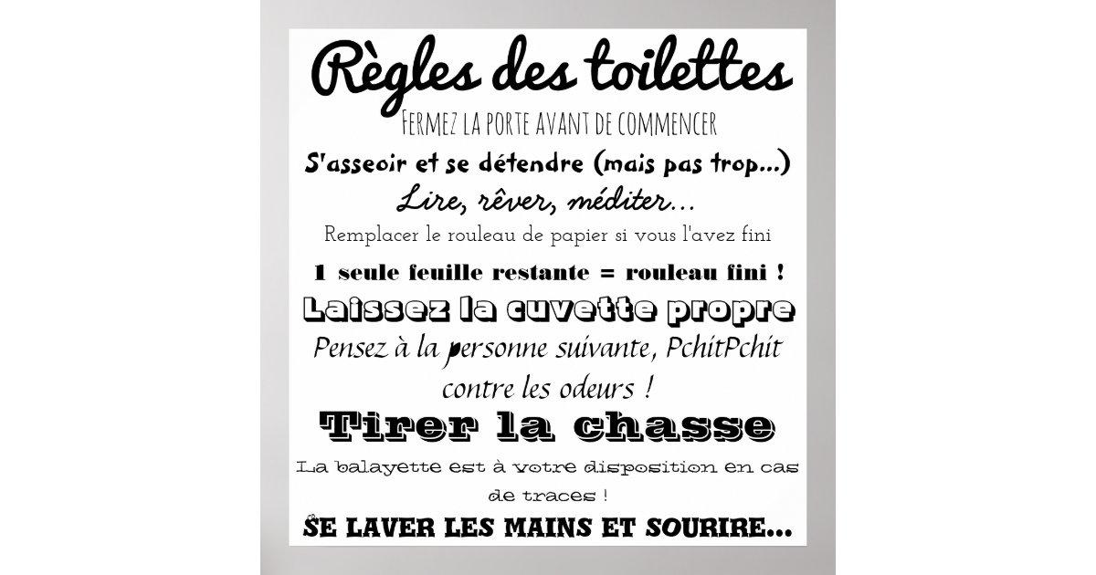 Rules of the toilets poster - Comment bien detartrer les toilettes ...