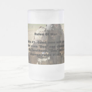 Rules Of War Frosted Glass Mug