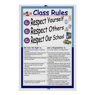 Rules (Respect) print