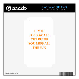 rules skin for iPod touch 4G