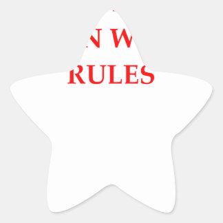 RULES STAR STICKER