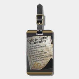 Rules to Lasting Relationships Luggage Tag