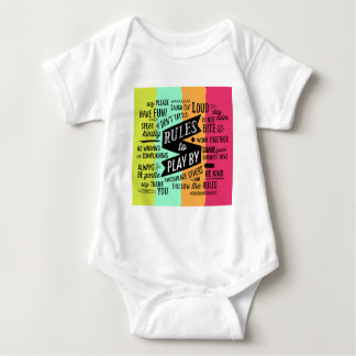 Rules to Play By Baby Bodysuit
