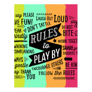 Rules to Play By Postcard