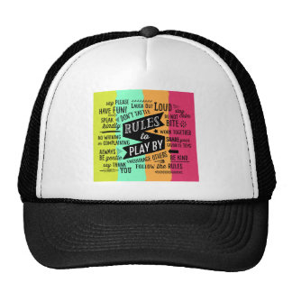 Rules to Play By Trucker Hat