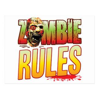 Rules Zombie Head Postcard