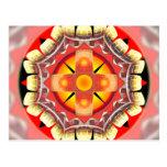 Ruleta anaranjada tarjetas postales