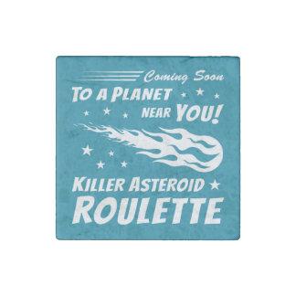 Ruleta asteroide del asesino - astronomía del imán de piedra