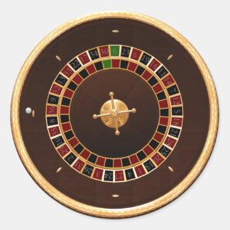 ruleta pegatinas redondas