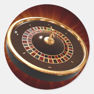 ruleta etiqueta redonda