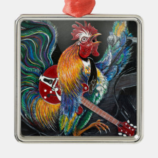 Ruling the Roost Metal Ornament