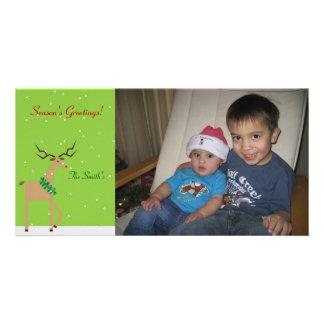Rulolph Reindeer Christmas Photo Card 2