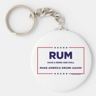 Rum Basic Round Button Keychain