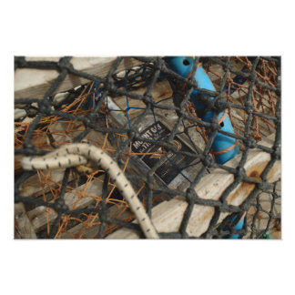 Rum Bottle In Lobster Pot Photo Print