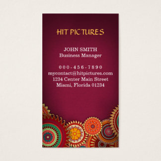 Rum Burst Creative Floral Business Services Business Card