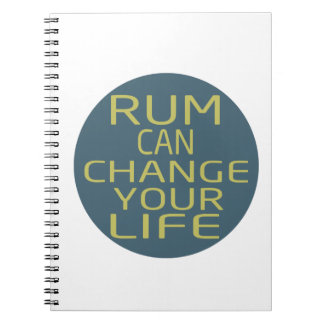 Rum Can Change Your Life Spiral Note Book