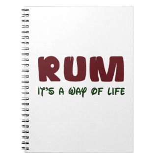 Rum It's a way of life Spiral Notebooks