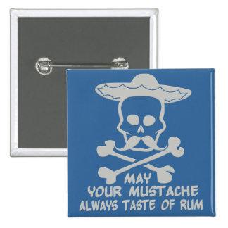 Rum Mustache custom color button