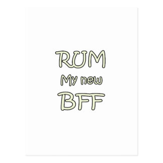 Rum My New BFF Postcard