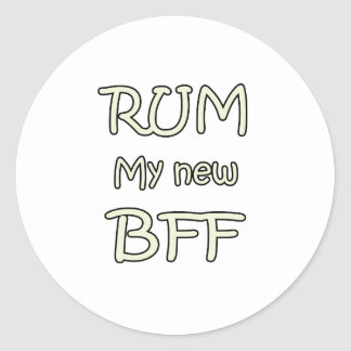 Rum My New BFF Stickers